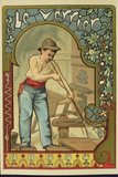 Glass Blower, Collector's Card Giclee Print