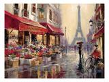 April i Paris Plakat av Brent Heighton