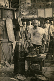 Glass Blower, Montreuil, Postcard Photographic Print