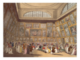 Exhibition Room, Somerset House, 1808 Reproduction procédé giclée par Thomas Rowlandson