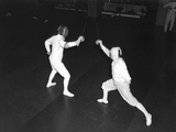 Fencing Bout Photographic Print