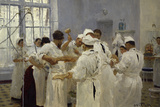 The Surgeon J.W.Pavlov in the Operating Theatre, 1888 Premium Giclee Print by Ilya Efimovich Repin