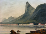 Botafogo Bay, 1822 Giclee Print by Henry Chamberlain