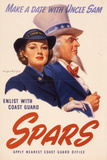 Make a Date with Uncle Sam. Enlist with Coast Guard Spars, US Coast Guard Women's Reserve Poster Art