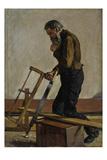 Der Philosphierende Arbeiter (The Philosophising Workman), 1884 Premium Giclee Print by Hodler Ferdinand