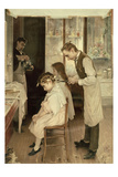 Children at the Hairdresser's Posters