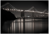 Bay Bridge by Night Photo Poster Posters par Mike Dillon