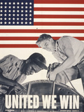 United We Win, US Propaganda Poster Stampa giclée