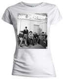 Juniors: One Direction - Band Lounge Black & White T-shirts