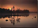 By the Lake Impressão em tela esticada