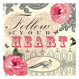 Follow Your Heart Prints by Violet Leclaire