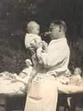 Paediatrician with Baby, C.1925 Photographic Print