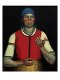 Worker, 1933 Giclee Print by Kasimir Malevich