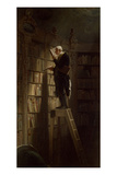 The Bookworm, c.1850 Gicleetryck av Carl Spitzweg