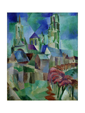 Les Tours de Laon (The Towers of Laon), 1912 Giclee Print by Robert Delaunay