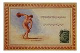 Discus Thrower, Postcard, 1906 Giclee Print