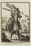 Habit De Menuisier Ebeniste (Imaginary Costume of a Cabinet Maker with the Tools of His Trade) Giclée-tryk af Nicolas II de Larmessin