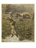 Das Häschen (Little Rabbit), 1863 Giclee Print by Theodor Hosemann