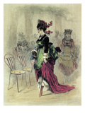 Lady at the Promenade Giclee Print by Alfed Grévin