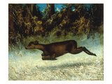 Jumping Deer Poster by Gustave Courbet