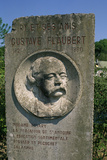 Gustav Flaubert, Monument in Ry Stretched Canvas Print