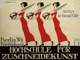 Hochschule Für Zuschneidekunst, College for Tailor Advertisement, Berlin, Germany Posters