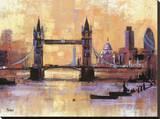 El Puente de la Torre, Londres Reproducción en lienzo de la lámina
