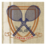 Campus Tennis Team Giclee Print by Sam Appleman