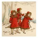 Watched Them Go Off with Their Skates Giclee Print by Kate Greenaway