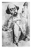 Flaubert Dissects Madame Bovary Premium Giclee Print by A. Lernot