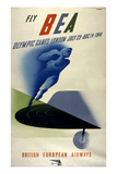 Poster for British European Airways (BEA) Featuring the 1948 London Olympic Games Art
