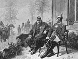 Napoleon III and Bismarck on the Morning after the Battle of Sedan, 1870 Giclee Print by W. Camphausen
