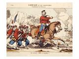 """""""Garibaldi Et Ses Volontaires Combattant Les Prus- Siens,"""" Franco-Prussian War, 1870 Art"""