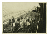 Eastern Front, German Troop Transport During World War I Giclee Print