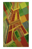 La Tour Eiffel (Eiffel tower), 1926 Reproduction procédé giclée Premium par Robert Delaunay