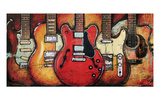 Guitar Collage Prints by Bruce Langton