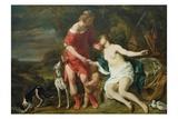 Venus and Adonis, c.1658 Lámina giclée por Ferdinand Bol