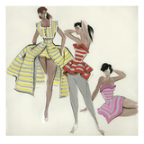 Women's Fashion Giclee Print by Hannelore Bruederlin