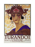 Title Page of Score of Turandot, Opera by Giacomo Puccini Posters