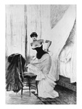 Emma Bovary Ties Her Corset Giclee Print by Daniel Mordant