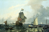 """Brielle"" William III, Embarkation to England,1688 Giclee Print by Ludolf Backhuysen"