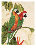 Tropical Green Pair Posters by Colleen Sarah