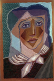 Femme à L'écharpe (Woman with Neck Scarf), 1924 Giclee Print by Juan Gris