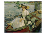Dame im Kahn (Lady in a Boat), 1910 Giclee Print by Leo Putz