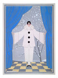 "Fasching Costume ""Pierrot"" for Women Giclee Print"