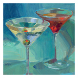 Martini in Aqua Giclee Print by Patti Mollica