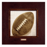 Vintage Football Giclee Print by Sam Appleman