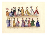Women's Fashion from 1786 to 1841 Print by Charles Martin