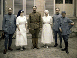 French Military Doctors and Nurses, 1917 Photographic Print