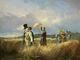 Der Sonntagsspaziergang (The Sunday Walk), 1841 Prints by Carl Spitzweg